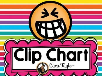 English and Spanish Behavior Clip Chart
