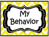 English and Spanish Chevron Behavior Chart