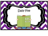 English and Spanish Chevron Daily Five Signs