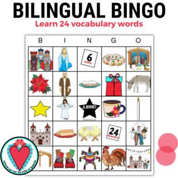 English and Spanish Christmas in Mexico Las Posadas Bingo
