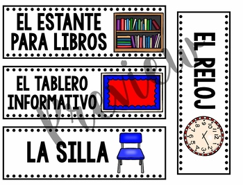 English and Spanish Classroom Labels