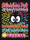 "English+Spanish ""The Classroom Pet"" Tips for Class Management /Mascota del Grupo"