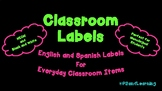 English and Spanish Classroom Terms