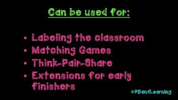 English and Spanish Classroom Terms