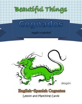 English and Spanish Cognates, Animal Matching Cards