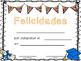 English and Spanish Color Diplomas