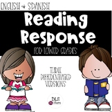 English & Spanish Differentiated Reading Response for Lowe