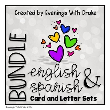 English and Spanish Holiday Card and Letter Set Bundle (No Prep)