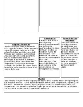 English and Spanish Homework Cover