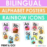 English and Spanish Icon Alphabet Posters
