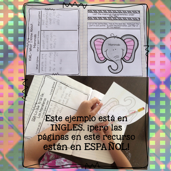 English and Spanish Interactive Animal Journal Bundle!  Grades 1-3