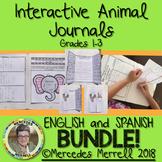 BUNDLE! English and Spanish Interactive Animal Journal Gr. 1-3