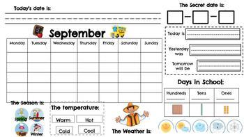 English and Spanish Interactive Calendar Notebook