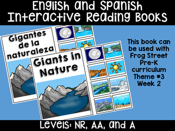 Nature's Giants Eng&Span Interactive Reading Books Can Be Used With Frog Street