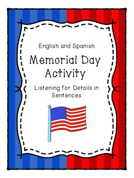 English and Spanish Memorial Day Activity