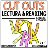 English and Spanish Reading Bulletin Board Letter Cut Outs