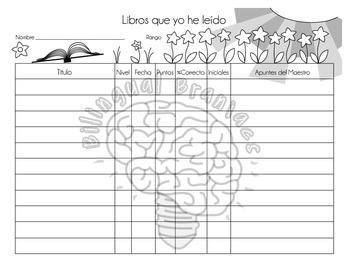 English and Spanish Reading Logs