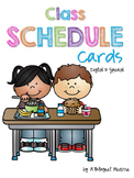 English and Spanish Schedule Cards