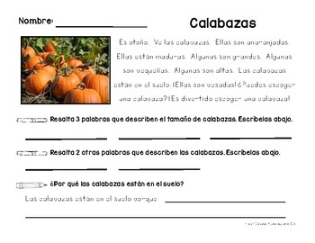English and Spanish Version Emergent Passage Using Text Evidence Based Responses