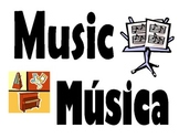 English and Spanish music words