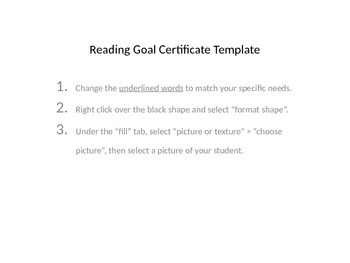 English and Spanish reading goal achievement certificates