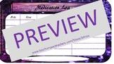 English and Spanish Purple Glitter Prescription Log Management