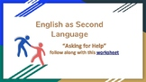 English as Second Language: Help and Doctor Visits PDF with worksheet