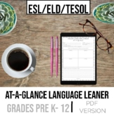 English as a Second Language At-A-Glance