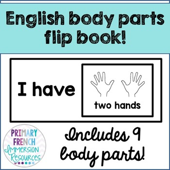English body parts flip book