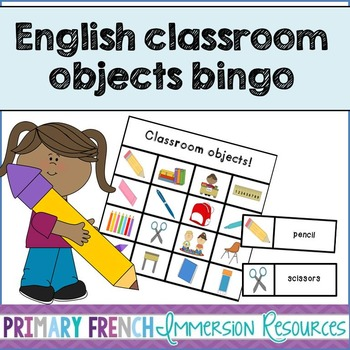 English classroom objects bingo