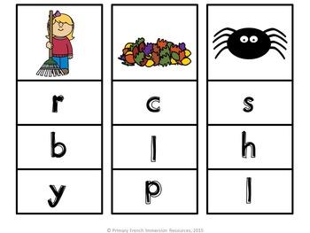 English kindergarten fall reading centres!