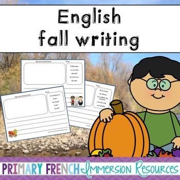 English fall writing