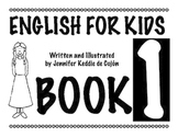 English for Kids Book 1 - Vocabulary practice for primary