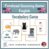 English forehead guessing vocabulary game