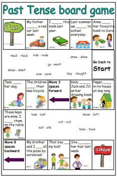 English grammar - Irregular past tense: board game