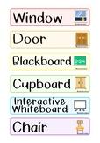 English labels