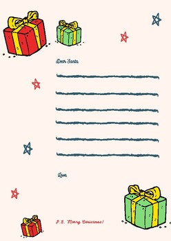English letters to Santa Claus