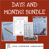 English months and days bundle - ELA - ESL - ELL