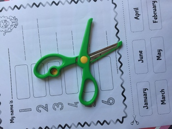English months and days cut and paste activity - ELA - ESL - ELL