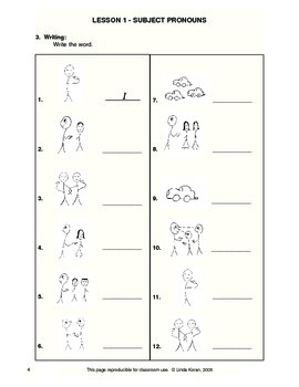 English on a Roll® Reproducible Worksheets - Lessons 1 - 37