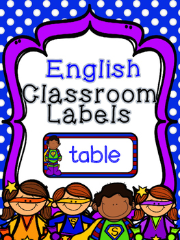 English only classroom labels