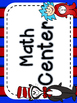 English only classroom labels Cat - in the hat theme