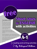English reading and writing activity (every day vocabulary