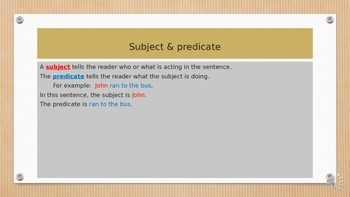 English sentences - writing English sentences