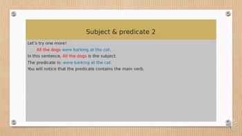 English sentences - writing English sentences