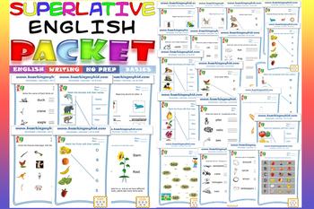 English sight words worksheets Packet NO PREP ( Kindergarten)