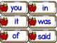 English sight words - apples theme