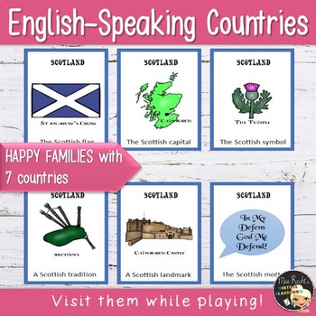 English-speaking countries - Happy Families Game