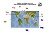 English speaking countries - Map