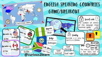 English speaking countries breakout/game